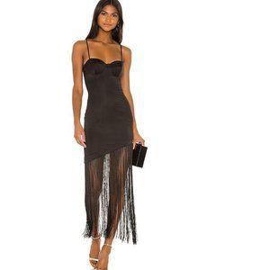 NWT NBD SEXY!!! Chris Fringe Dress in Black Small